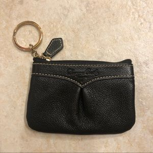 Dooney & Bourke black leather coin purse